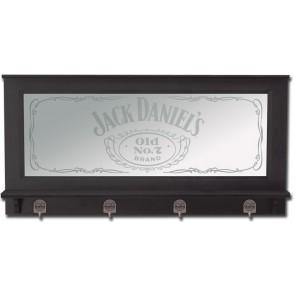 Jack Daniels Bar Mirror : Pewter Hooks