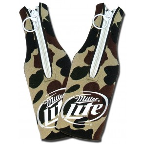 Miller Lite Koozies : Camo Bottle Suit Set