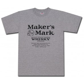 Maker's Mark Classic Label Grey T Shirt