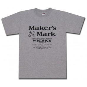 Maker's Mark Classic Label Grey T Shirt