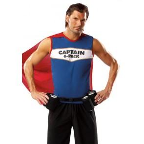 Captain 6 Pack Costume