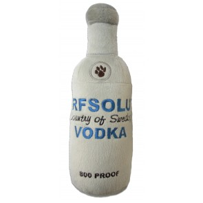 Arfsolut Vodka Dog Toy : Bottle Plush Squeaker
