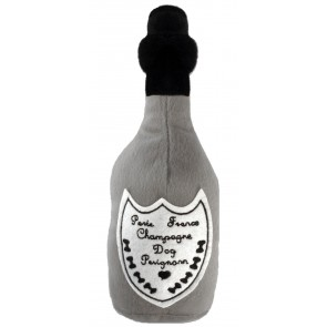 Dog Perignon Champagne Dog Toy : Bottle Plush Squeaker