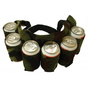 Beer Holster : 6 Pack Adjustable Camo Belt
