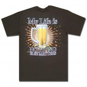 Beer Shirt : My Life Is Beer T-Shirt