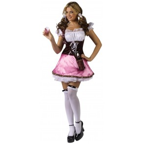 Beer Garden Girl Costume : Pink Layla