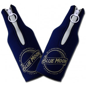 Blue Moon Navy Bottle Koozie Set
