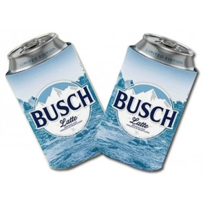 Busch Latte Collapsible Beer Coozie Set