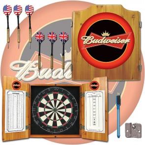 Budweiser Dartboard and Cabinet Set