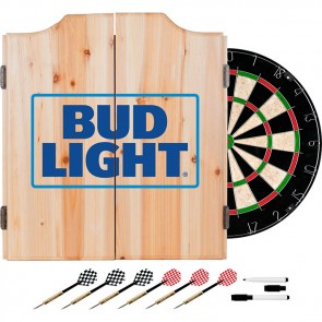 Bud Light Dart Cabinet : Dartboard w/ Darts