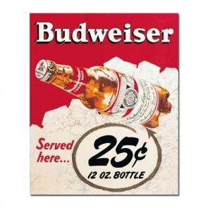 Budweiser 25 Cent Vintage Canvas Print