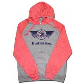 Budweiser Retro Red Hoody w/ Pouch