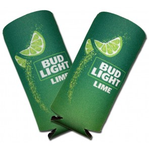 Bud Light Lime Slim Swoosh Coozies