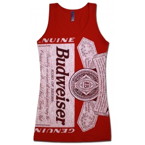 Budweiser Can Label Women's Tank Top