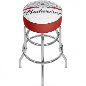 Full Label Budweiser Bar Stool