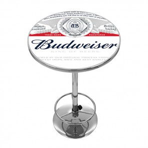 Full Label Budweiser High Top Pub Table