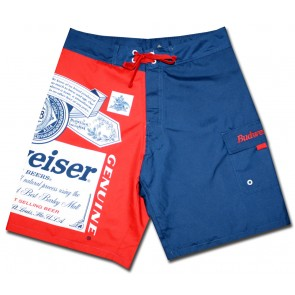 Budweiser Navy Split Board Shorts