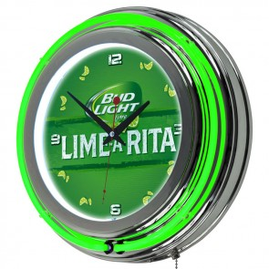 Bud Light Lime Neon Clock