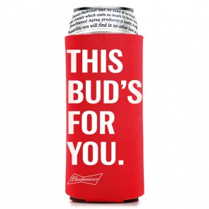 """This Bud's For You"" 25oz Collapsible Coozie"