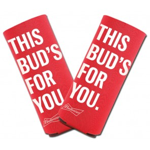 Budweiser 16oz Alum Bottle Koozie Set