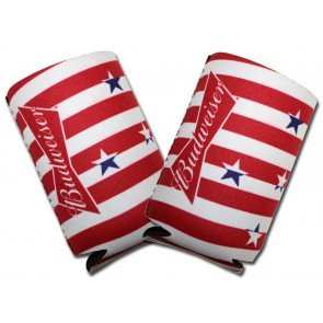 Budweiser Stars Collapsible Coozie Set