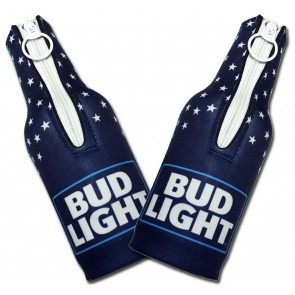 Bud Light USA Bottle Coozie Set