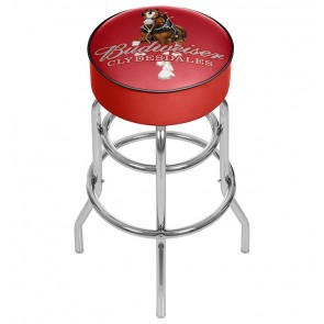 Budweiser Clydesdales Red Bar Stool