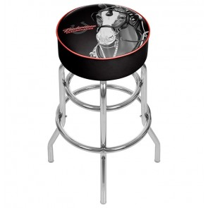 Budweiser Clydesdales Black Bar Stool