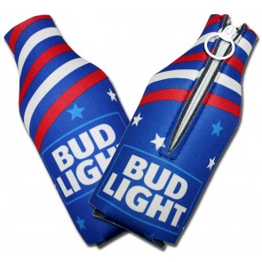 Bud Light USA Collapsible Bottle Koozies