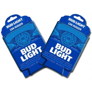 Bud Light Can Trademark Collapsible Koozie Set
