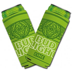 Bud Light Lime Slim Can Coozie Set