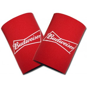 Budweiser Bowtie Can Coozie Set
