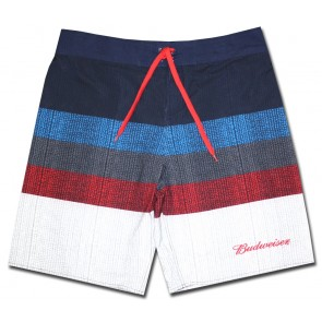 Budweiser Tri Color Board Shorts