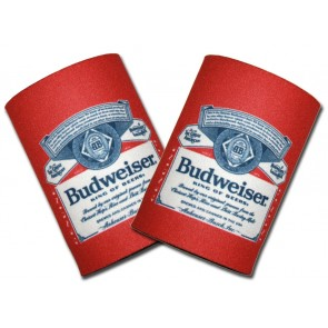 Budweiser Beer Label Can Coozie Set