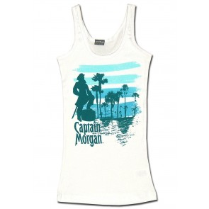 Captain Morgan Women's Tank Top : White