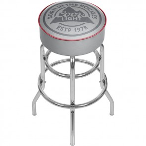 Coors Light Rockies Logo Bar Stool