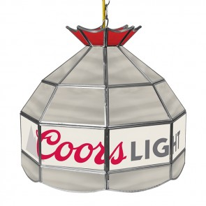 Coors Light Stained Glass Tiffany Lamp