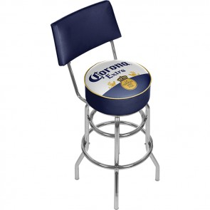 Corona Extra Label Bar Stool w/ Backrest