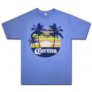Big & Tall Corona Rainbow Beach T Shirt