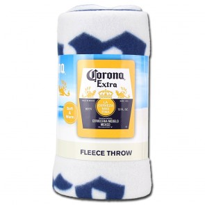 Corona Extra Label Fleece Blanket