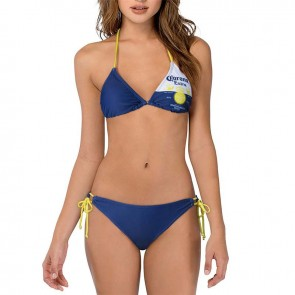 Corona Extra Beer Label String Bikini