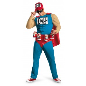 Duff The Simpsons Duffman Costume