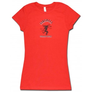Fireball Whisky Red Women's Babydoll Shirt