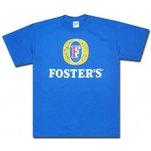 Foster's Shirt : Blue Distressed Logo T-Shirt