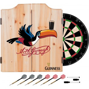 Guinness Flying Toucan Darts Set w/ Cabinet