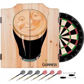 Guinness Smiling Pint Dart Set w/ Cabinet