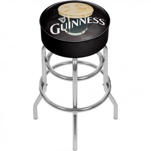 Guinness Smiling Pint Ad Bar Stool