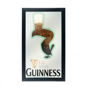 Guinness Foaming Toucan Bar Mirror