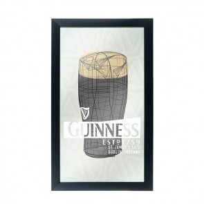 Guinness Pint Art Bar Mirror