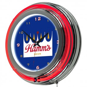 Hamm's Beer Neon Clock